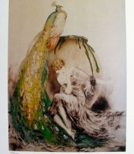 Louis Icart PEACOCK Facsimile Signed Limited Edition Small Giclee