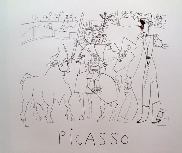 Marina Picasso CHEVALIER PICADOR DANS L'AR Limited Edition Lithograph Pablo