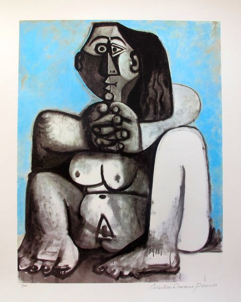 #105 DARK HAIRED NUDE Pablo Picasso Estate Signed Giclee