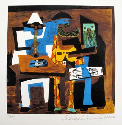 Pablo Picasso THREE MUSICIANS Estate Signed Limited Edition Small Giclee