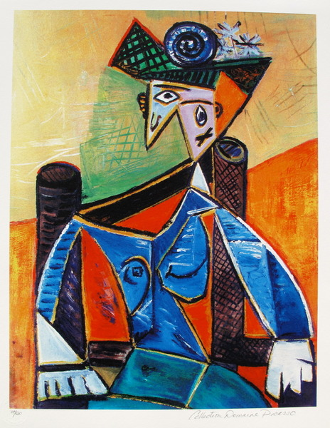 #14 SEATED WOMAN IN AN ARMCHAIR Pablo Picasso Estate Signed Giclee