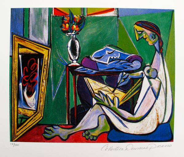 Pablo Picasso WOMAN DRAWING BEFORE A MIRROR Estate Signed Limited Edition Small Giclee