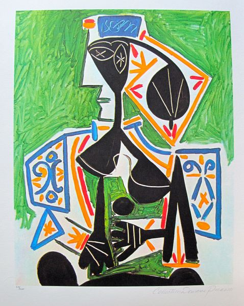 #27 WOMAN IN GREEN Pablo Picasso Estate Signed Giclee