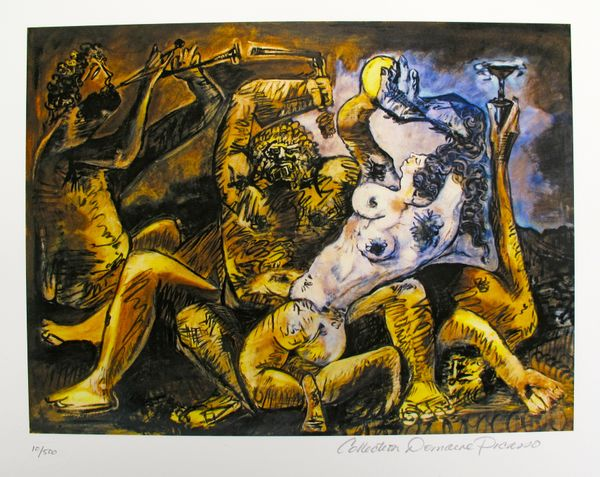 Pablo Picasso BACCHANAL Estate Signed Limited Edition Small Giclee
