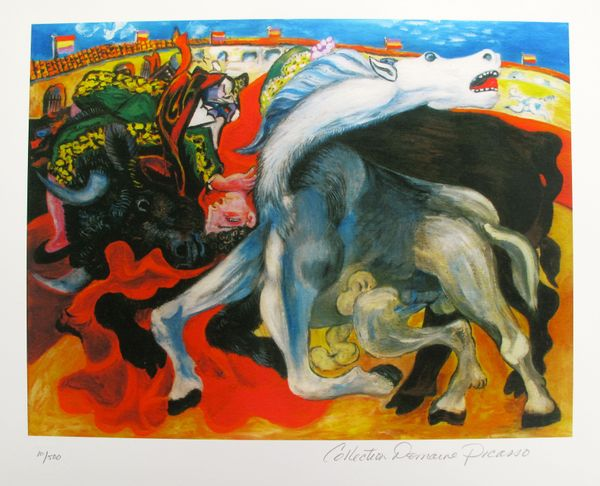 Pablo Picasso BULLFIGHT, DEATH OF TOREADOR Estate Signed Limited Edition Small Giclee