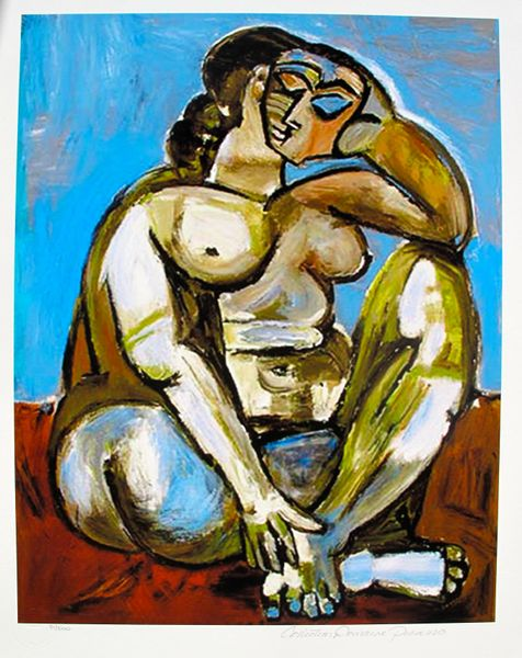 #76 SEATED NUDE Pablo Picasso Estate Signed Giclee