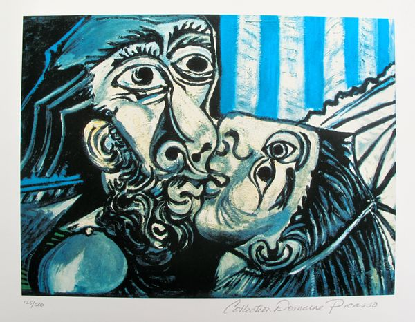 Pablo Picasso THE KISS Estate Signed Limited Edition Small Giclee