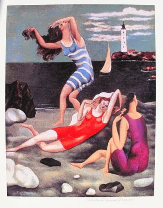 #082 THE BATHERS Pablo Picasso Estate Signed Giclee