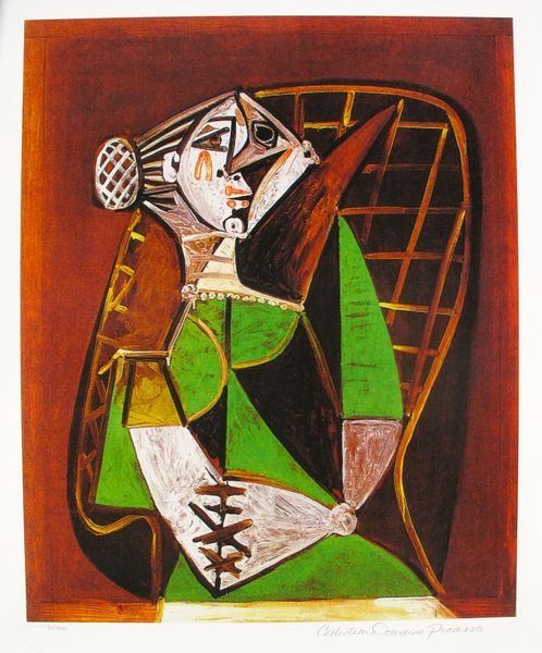 #089 WOMAN IN GREEN DRESS Pablo Picasso Estate Signed Giclee