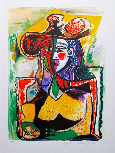 #098 PORTRAIT OF A WOMAN Pablo Picasso Estate Signed Giclee