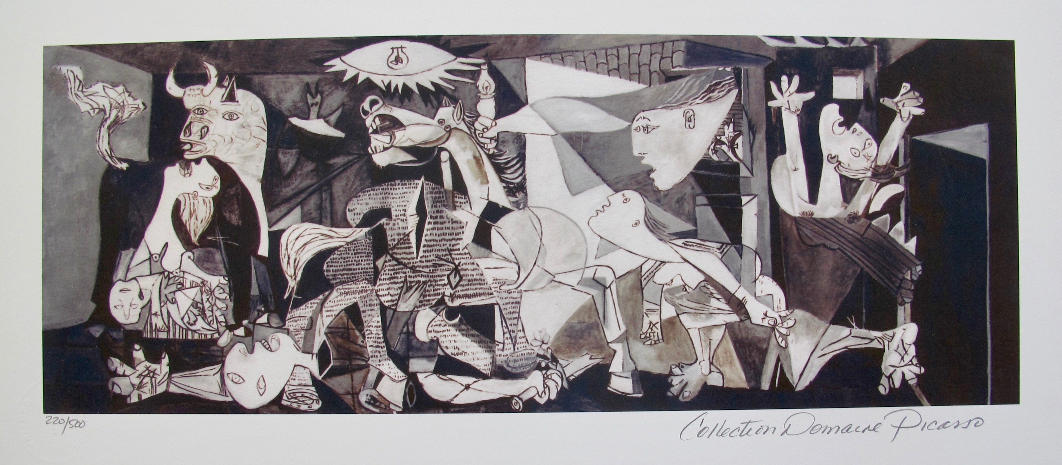 Pablo Picasso GUERNICA Estate Signed Limited Edition Giclee