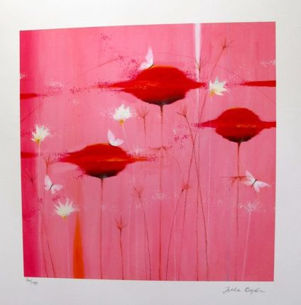 JULIA OGDEN PINK BLOSSOMS Limited Edition Hand Signed Giclee