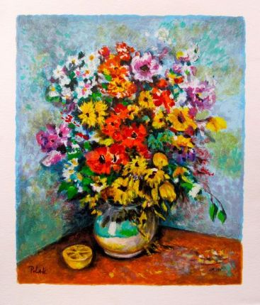 Dimitri Polak SPRING BOUQUET Limited Ed. Hand Signed Serigraph
