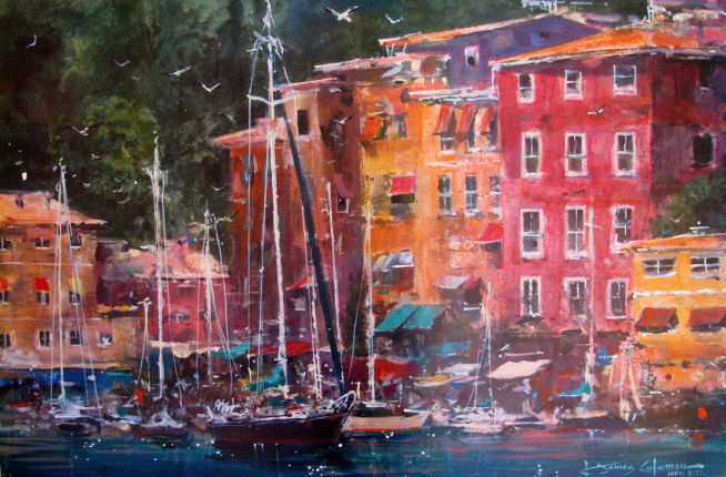 "JAMES COLEMAN ""PORTOFINO AFTERNOON"" Lithograph"