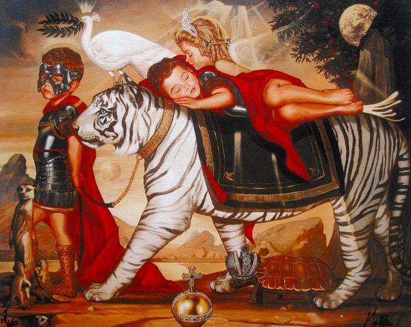 Ralph Wolfe Cowan PRINCELY DREAMS Limited Ed. Giclee on Canvas