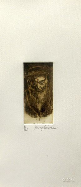 "GEORGE CRIONAS ""RABBI"" Hand Signed Limited Edition Etching"