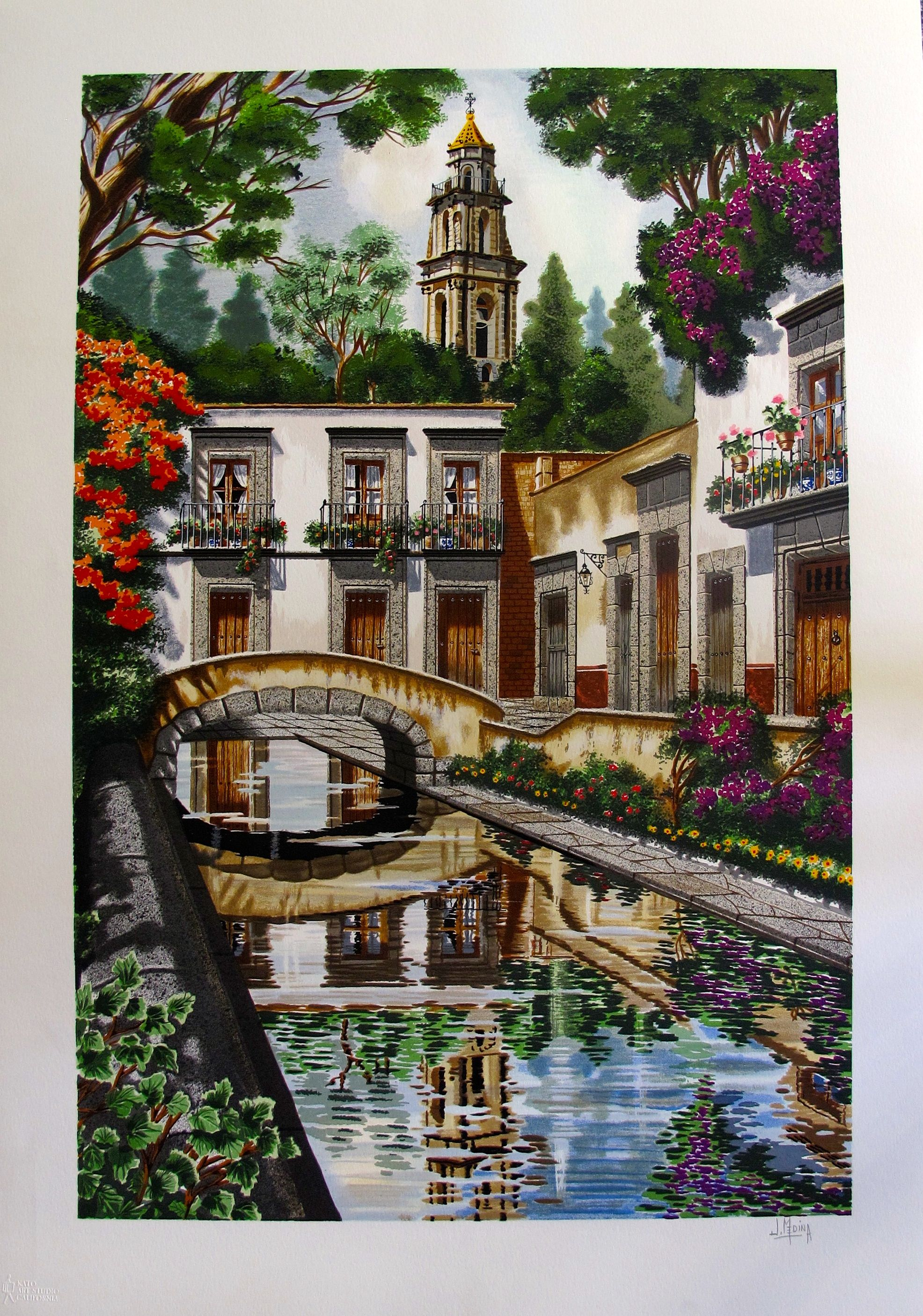 "JUAN MEDINA ""REFLECTIONS"" Hand Signed Limited Edition Serigraph"