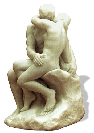 Auguste Rodin THE KISS Sculpture
