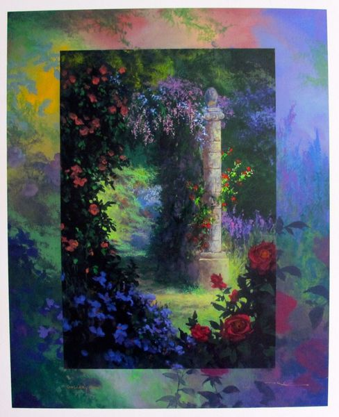 "JAMES COLEMAN ""ROSE GARDEN"" Hand Signed Limited Edition Serigraph"