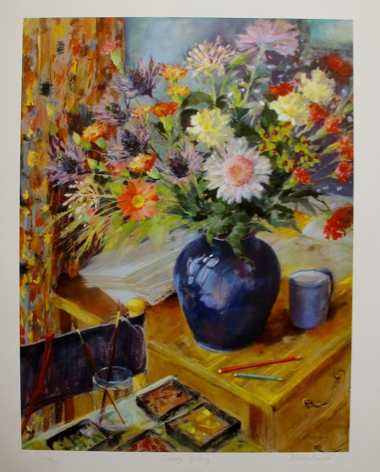 "NEL WHATMORE ""COMING UP ROSY"" Hand Signed Limited Edition Lithograph"