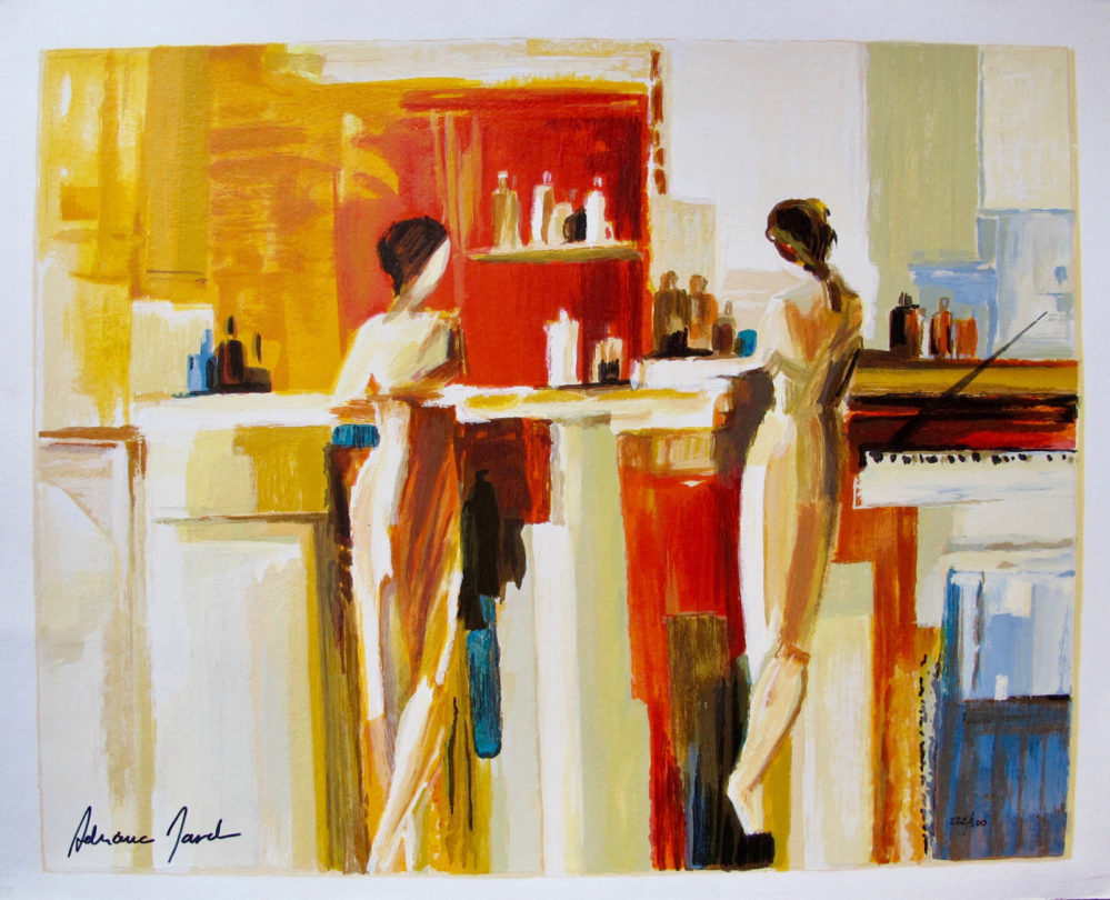 ADRIANA NAVEH CONVERSATION Hand Signed Limited Edition Serigraph