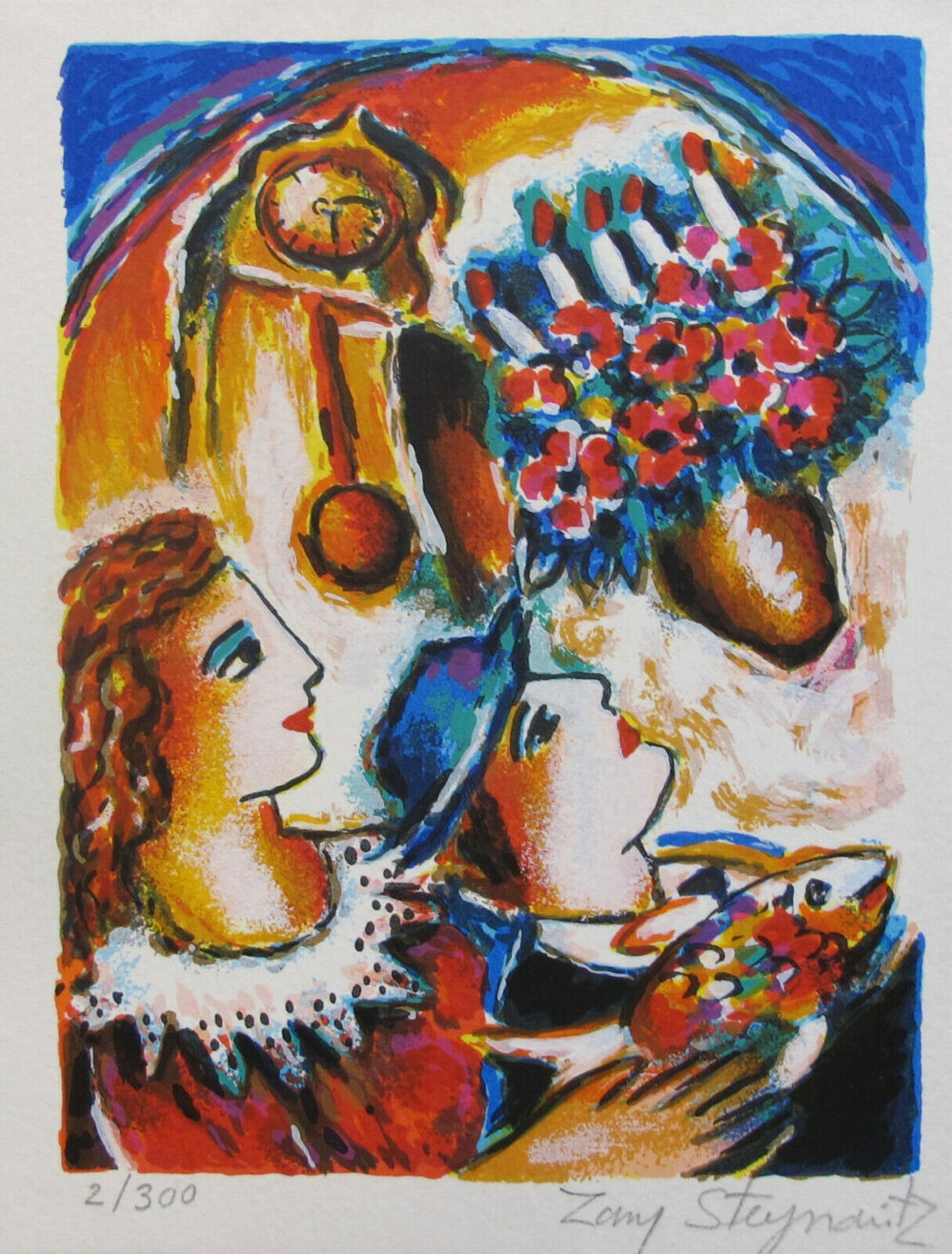 ZAMY STEYNOVITZ SHABBAT SUNDOWN Hand Signed Limited Edition Lithograph