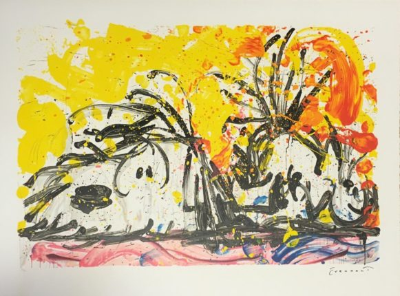 TOM EVERHART BLOW DRY Hand Signed Limited Edition Lithograph SNOOPY