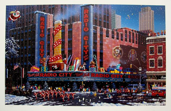 Alexander Chen SANTA COMES TO NEW YORK Limited Ed. Hand Signed Serigraph