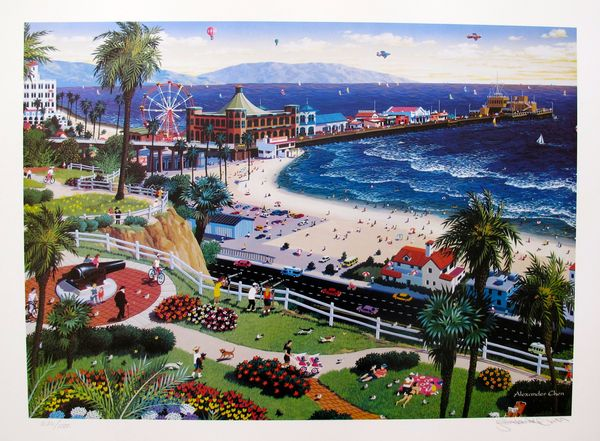 "ALEXANDER CHEN ""SANTA MONICA CALIFORNIA"" Hand Signed Limited Edition Lithograph"