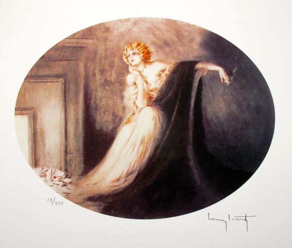 Louis Icart SAPHO Facsimile Signed Limited Edition Giclee Small