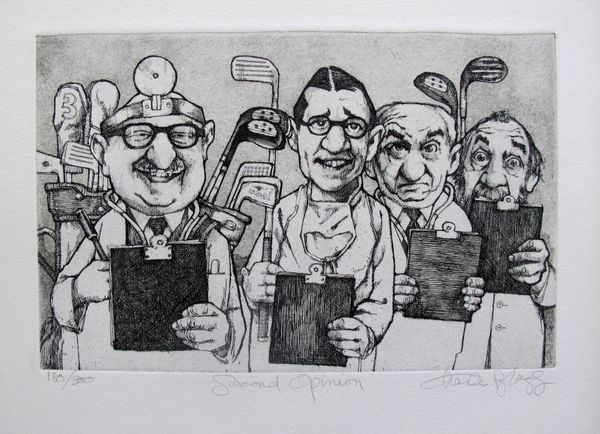 Charles Bragg SECOND OPINION Hand Signed Limited Ed. Etching