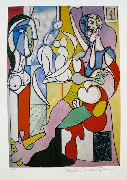 Pablo Picasso ARTIST WITH SCULPTURE Estate Signed Limited Edition Small Giclee