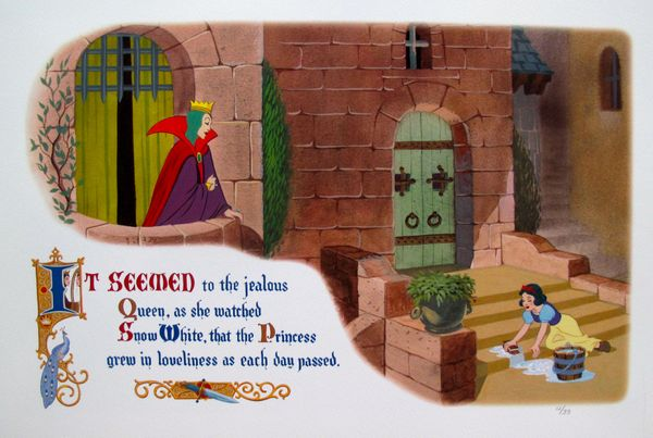 Disney SNOW WHITE AND THE EVIL QUEEN Limited Edition Lithograph
