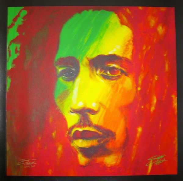 "Stephen Fishwick BOB MARLEY ""THE SOLDIER"" Hand Signed Large Giclee on Canvas"
