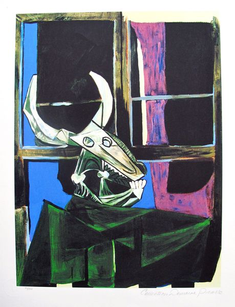 #29 STILL LIFE WITH STEER SKULL Pablo Picasso Estate Signed Giclee