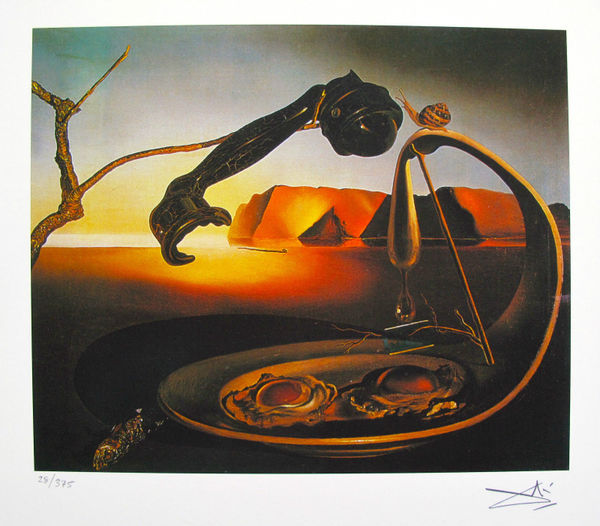 Salvador Dali THE SUBLIME MOMENT Facsimile Signed & Numbered Giclee