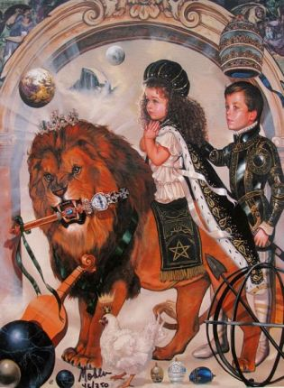 Ralph Wolfe Cowan THE ROYAL CHILDREN Limited Ed. Giclee on Canvas