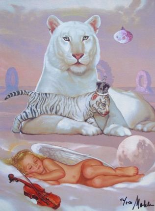 Ralph Wolfe Cowan TIGER DREAMS Limited Ed. Giclee on Canvas