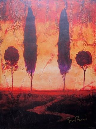 "SIMON BULL ""TOSCANA III"" Hand Signed Giclee on Canvas"