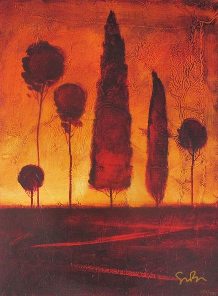 "SIMON BULL ""TOSCANA IV"" Hand Signed Giclee on Canvas"