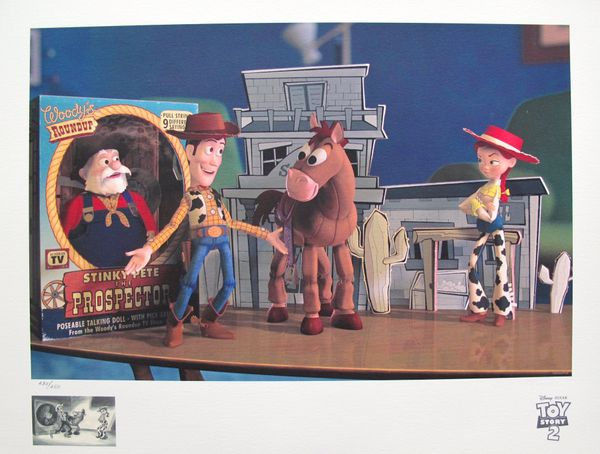 "Disney TOY STORY 2 ""WOODY'S FINEST HOUR"" Limited Edition Giclee Animation Art"