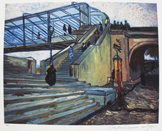 "This is a VINCENT VAN GOGH (ESTATE COLLECTION DOMAINE) giclee titled ""Trinquetaille Bridge""."