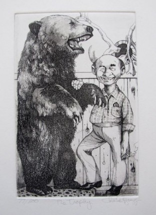 "Charles Bragg ""THE TROPHY"" Hand Signed Limited Edition Etching"