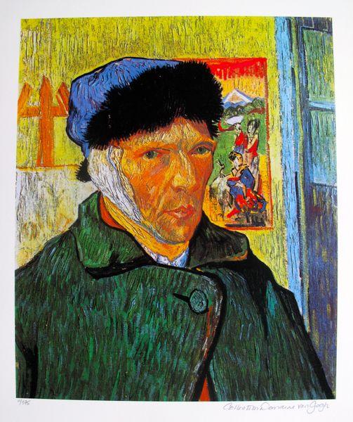 Vincent Van Gogh SELF PORTRAIT WITH BANDAGED EAR Estate Signed Limited Ed. Giclee