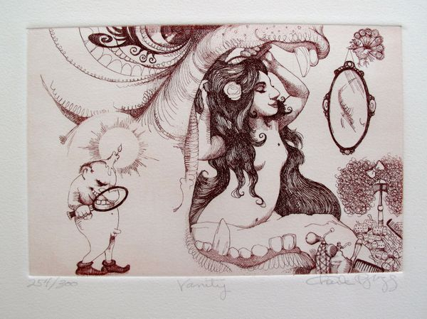 Charles Bragg VANITY Hand Signed Limited Edition Etching