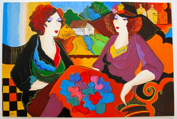 Patricia Govezensky VILLA ST. TROPEZ Hand Signed Limited Ed. Giclee on Canvas