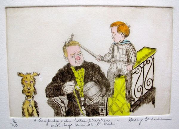 "GEORGE CRIONAS ""W.C. FIELDS"" Hand Signed Limited Edition Color Etching"