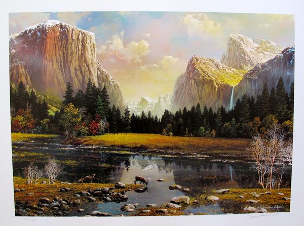 "ALEXANDER CHEN ""YOSEMITE SPLENDOR"" Hand Signed Limited Edition Lithograph"