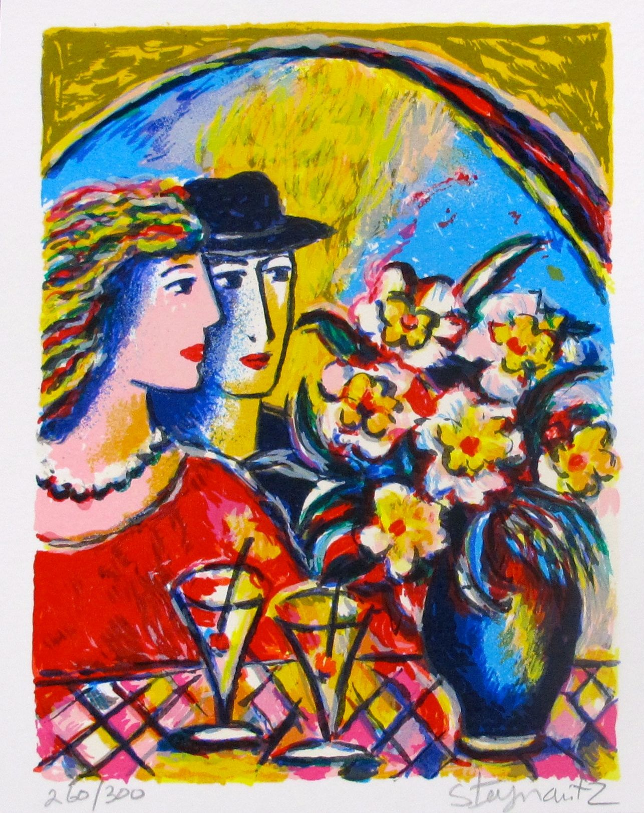 """ZAMY STEYNOVITZ """"FIRST DATE"""" Hand Signed Limited Edition Lithograph"""